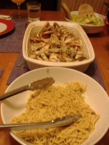 Noodles and Crab.  Heaven on Earth.