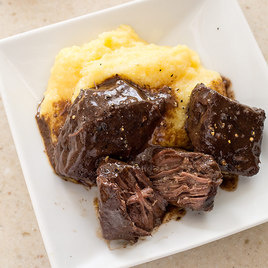 Picture from ATK website, because I didn't take a picture of ours. The picture on the recipe is what inspired me to make the polenta.